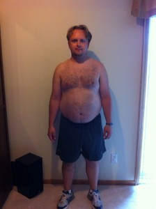 This is what I looked like before starting T25.